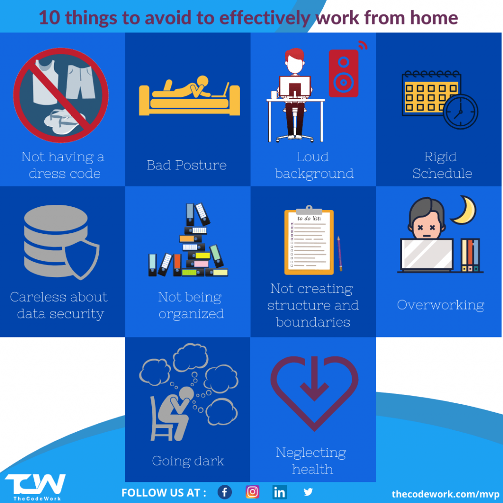 10 things to avoid while working from home by TheCodeWork