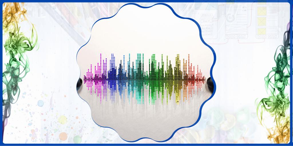 colourful sound vibration image