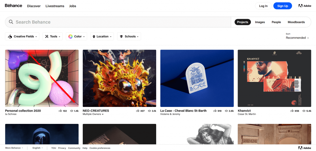 free resources for design inspiration behance