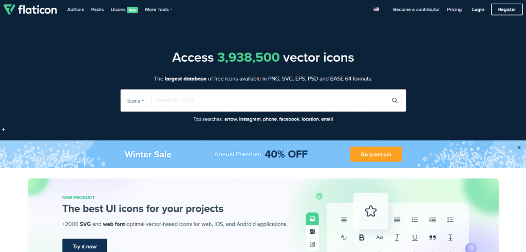 Free resources of icons by flaticon