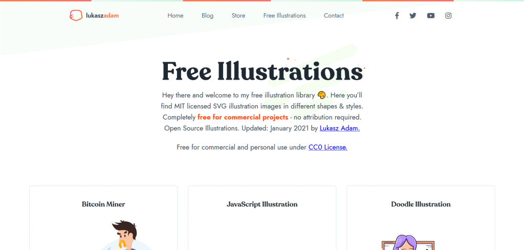 Free resources of vector images and illustrations by lukasz adam