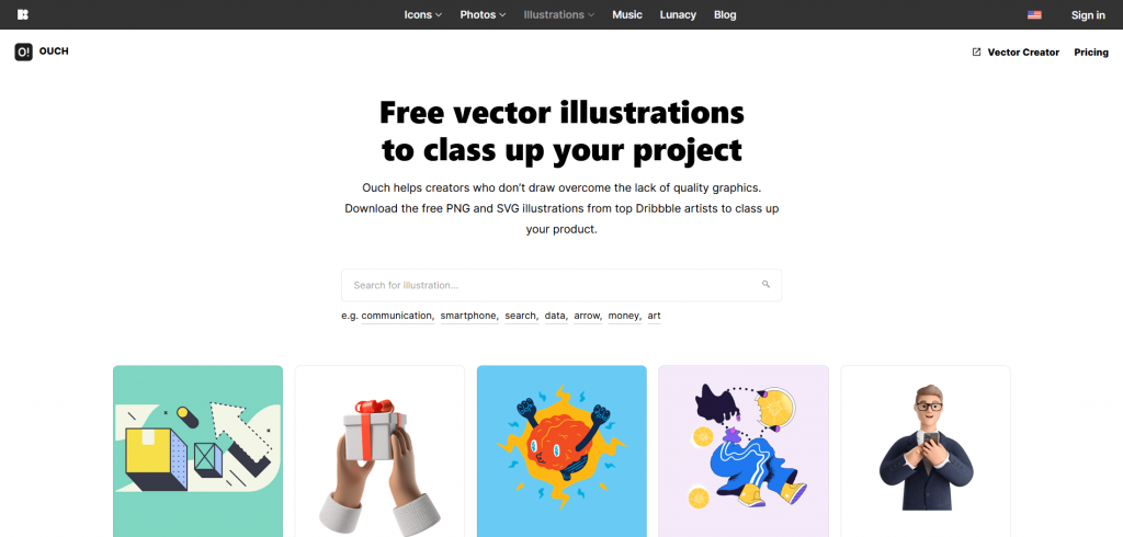 Free resources of vector images and illustrations by ouchpics