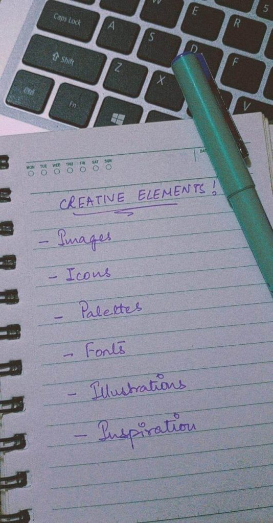 creative elements needed by designers