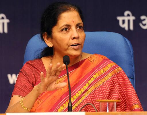Indian finance minister Nirmala Sitharama