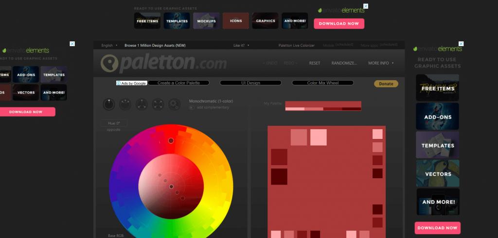 Free Colour Scheme Generators paletton