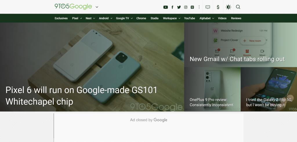 trending tech news website - 9to5Google