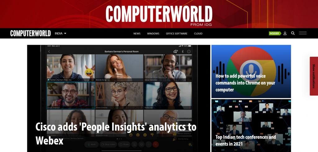 website for technology - Computerworld