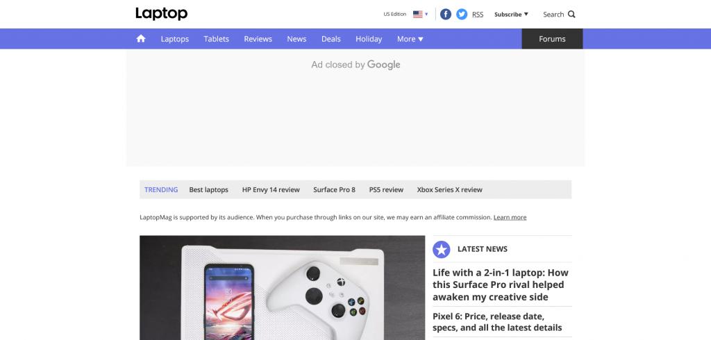 Gadget shopping website - Laptop Meg