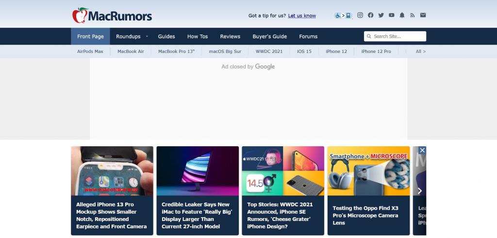 Mac community website - MacRumors