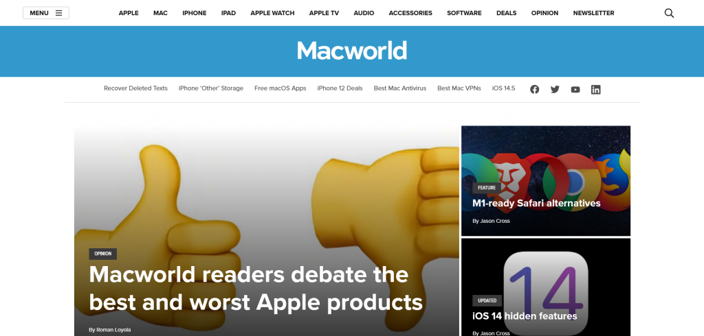 best tech website for Apple users - MacWorld