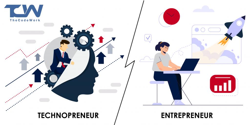 Difference between technopreneurship and entrepreneurship