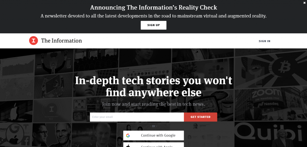 website to find tech stories - The information