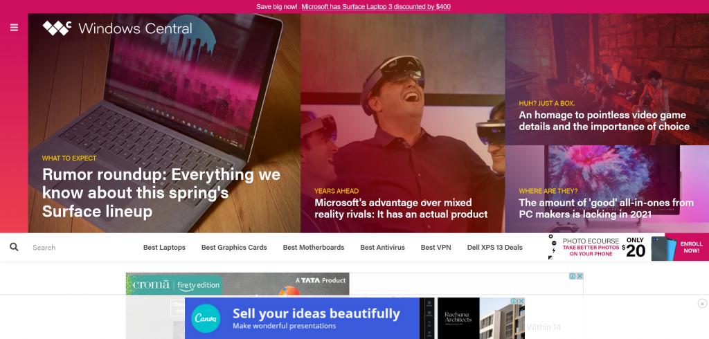 tech news website for Windows - Windows Central
